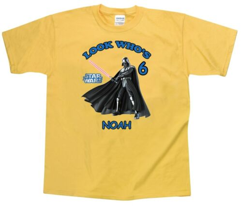 Star Wars Darth Vader Personalized Custom Birthday Shirts in 8 Different Colors