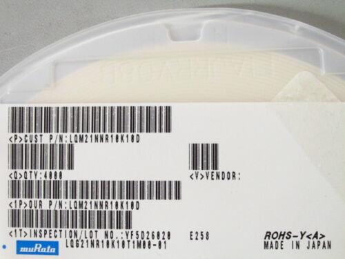 MuRata 0805 100nH Inductor LQM21NNR10K10D RoHS,Qty.100