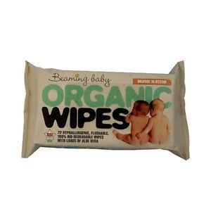 Beaming Baby Organic Skincare Baby Wipes Hypoallergenic Paraben Free Vegan