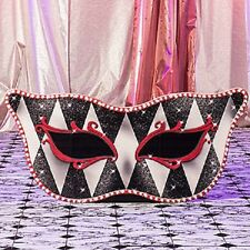 RED HARLEQUIN MASQUERADE MASK STANDEE * mardi gras party decorations *