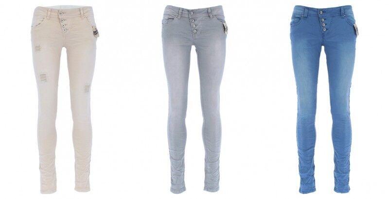 Buena Vista Pantaloni Donna Malibu Elasticizzato Twill