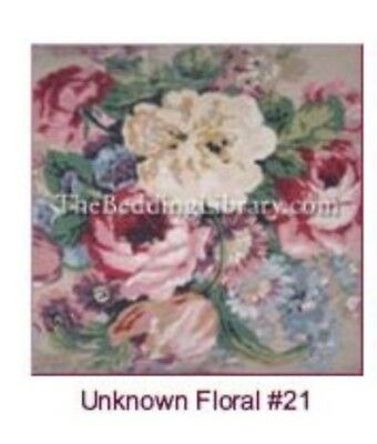RARE VINTAGE Ralph Lauren Bed Skirt ~Unknown Floral #21 is called Pergola Floral