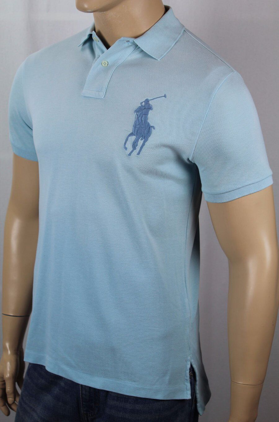 Polo Ralph Lauren bluee Classic Fit Mesh Shirt Big bluee Pony NWT