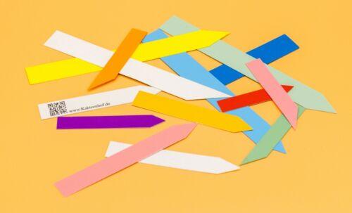 Marken Stecketiketten Stärke ca Farben und Mengen 0,4 mm in versch Größen