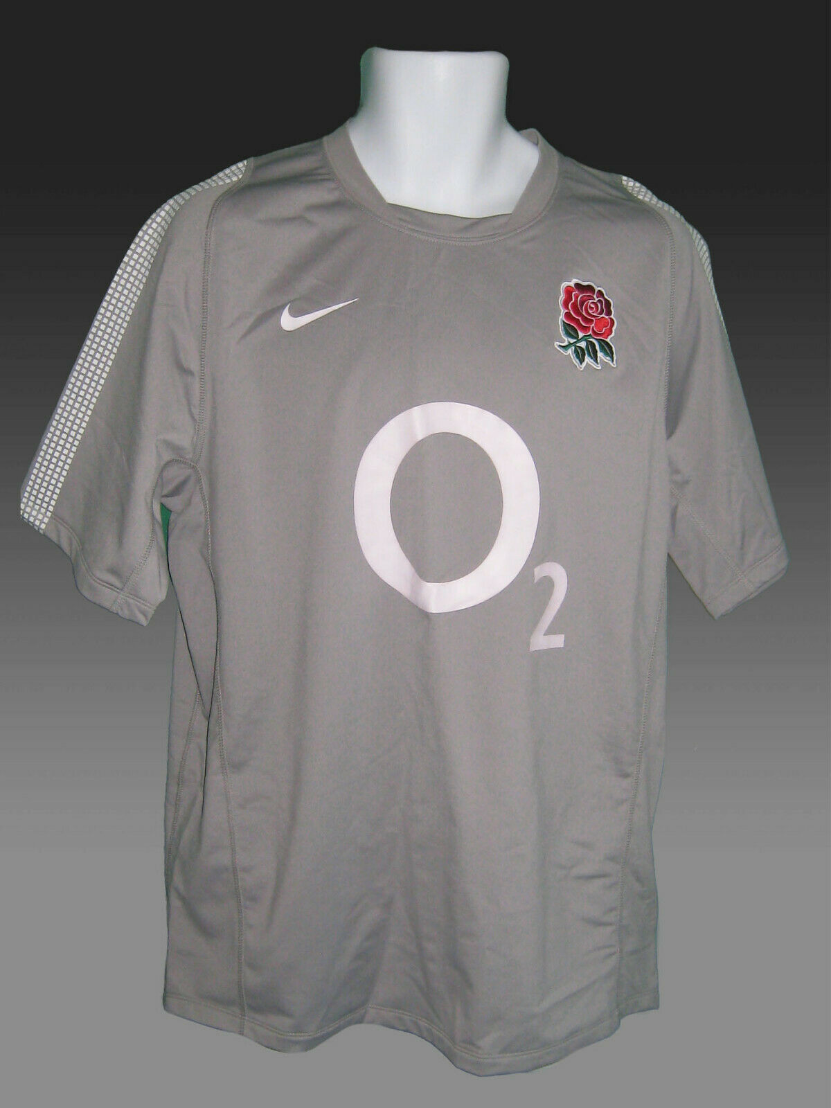 af5c788d1887 Rare New NIKE ENGLAND RUGBY Shirt with Tags XL new Grey denyge5465 ...