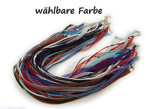 Neue Mode 5 Halsketten Organzaband Schleifenband Schmuckband Kette Schmuckherstellung Modeschmuck Farbe Wählbar SorgfäLtige FäRbeprozesse