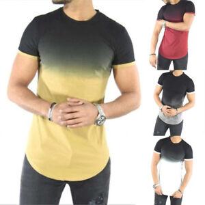 Fashion-Men-Casual-Tops-T-Shirt-Short-Sleeve-O-Neck-Slim-Fit-Muscle-Shirts-Tees