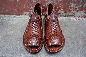 e35446b8852e1 La foto se está cargando El-Pihuamo-Premium-Original-Vintage-Mexicano- Sandalias-para-
