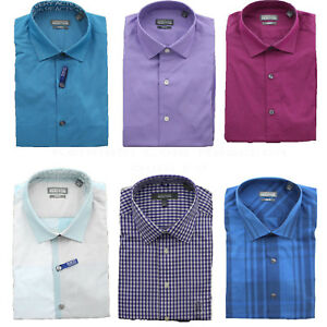 Kenneth-Cole-Men-039-s-Reaction-Wrinkle-Free-No-Iron-Slim-Fit-LS-Dress-Shirt
