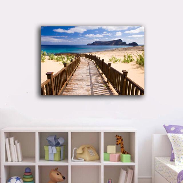 30×45×3cm Walk To Beach Holiday Framed Canvas Prints Wall Art Home Decor Gift