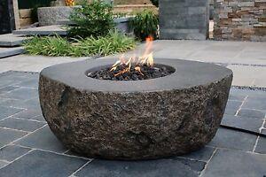 Burning Rock Eco Stone Gas Fire Pit Elementi Uk Ebay