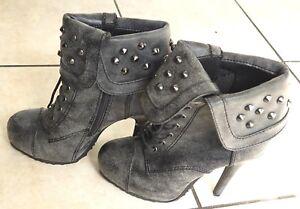 Paprika Schuhes gray Swamo H Ankle stud zipper detail Stiefel, ... Größe 5.5 ... Stiefel, a8c919