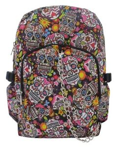 SUGAR-SKULL-Mexican-Tattoo-Backpack-Rucksack-School-College-Goth-Rock-Punk-Bag
