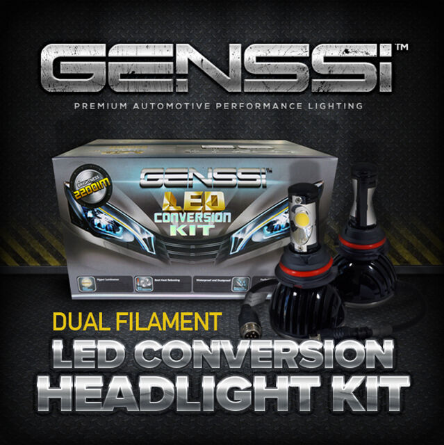 GENSSI™ H13 Bi-Xenon HID Upgrade Bixenon LED Conversion Kit Low / High Beam