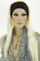 Light Pale Blonde Blonde Long Straight Headbands Wigs