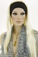 Light Pale Blonde Blonde Long Straight Headbands Wigs