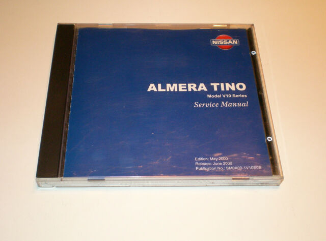 Workshop Manual On Cd Nissan Almera Tino V10 Stand 06  2000