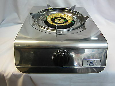 Free 1.8M hose & regulator 18MJ Lux Portable Gas Stove Wok Burner LPG Cook top