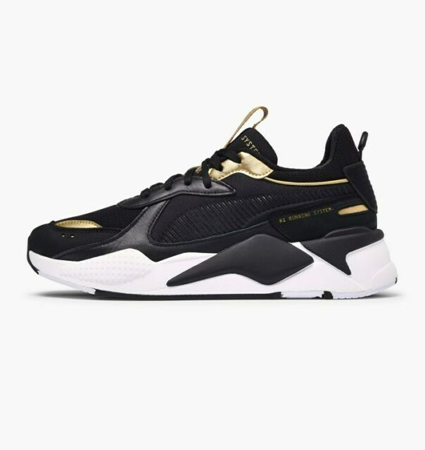5e1889c6 Puma RS-X Trophy Lifestyle Sneakers Black Gold Limited New Men Shoes  369451-01