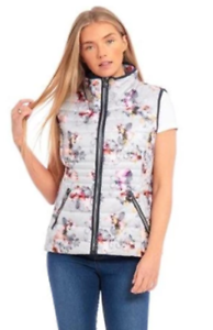 Arctic Storm Ladies Harper Lightweight Quilted Padded Floral Gilet Bodywarmer