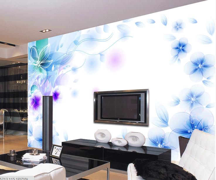 3D Blaue Elegante Blumen 55 Tapete Tapeten Mauer Foto Familie Tapete Wandgemälde