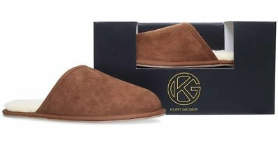 Mens Kurt Geiger Slippers Hugo Moccasin Grey KG New in Box