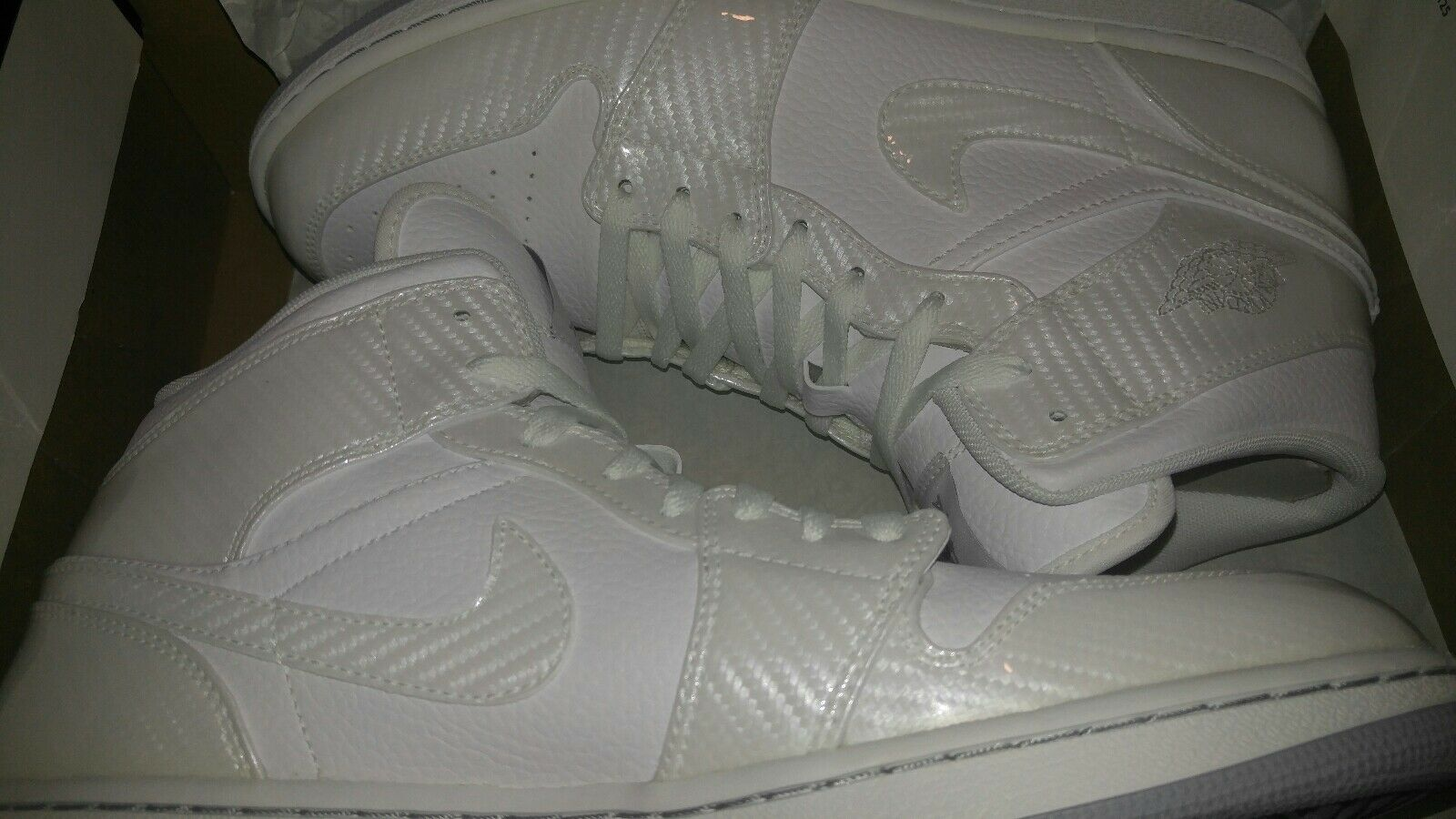 Nike AirJordan 1 Phat White Carbon Fiber-Wolf Grey. Comfortable The latest discount shoes for men and women