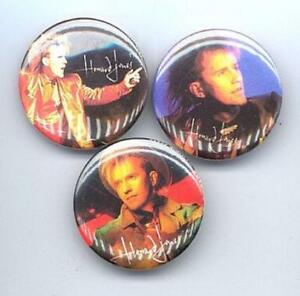 Howard-Jones-1985-Boton-Botones-Pins-Insignias-3-Diferentes-Casi-Nuevo