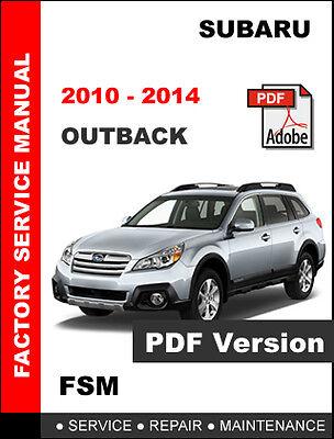 2010  2014 subaru outback ultimate service repair fsm manual  wiring  diagram  ebay