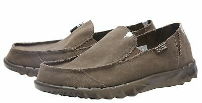 Dude Shoes Farty Roughcut Chocoloate Slip On Shoes/mule In Uk6 To Uk14
