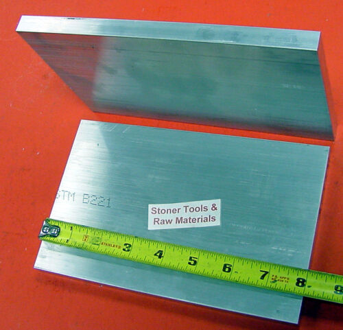 """2 Pieces 5//8/"""" X 6/"""" ALUMINUM 6061 FLAT BAR 8/"""" long Solid .625 T6 Plate Mill Stock"""