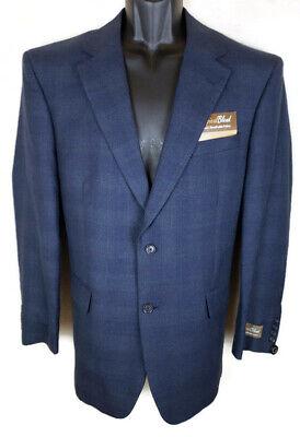 Perry Ellis Slim Sport Fit Water Resistant Sportcoat Bay Blue Mens Size 40R New