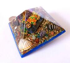 Orgonita Orgón Pirámide de curación de energía potente Tortuga Chakra Meditación, Cristal
