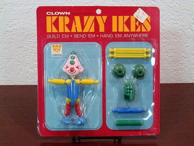 1969 KRAZY IKES CLOWN BUILD-A-FIGURE MINT SEALED MOC WHITMAN
