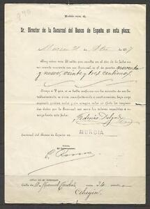 Q40-DOCUMENTO-BANCO-ESPANA-1897-EN-MURCIA-FEDERICO-DELGADO-MORALES-CEHEGIN