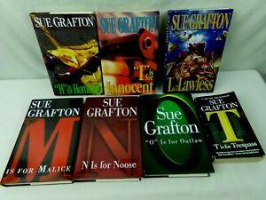 Kinsey-Millhone-Alphabet-Mysteries-by-Sue-Grafton-Book-Lot-of-7-H-I-L-M-N-O-T