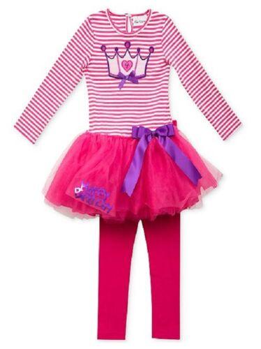 Rare Editions Two Piece Birthday Princess Tutu Dress /& Leggings Set