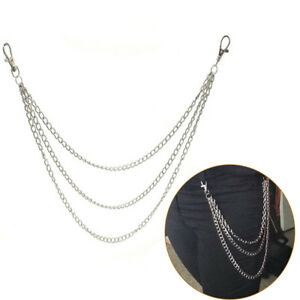 3Std-Trousers-Men-Lady-Chain-Jeans-Wallet-Keychain-Punk-039-Rock-HipHop-Waist-GDS