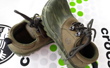 a24b3b60a CROCS AXLE CAMO ALL TERRAIN BOAT OXFORD WATERPROOF SHOE~Green~Junior 1   W 3 ~NEW