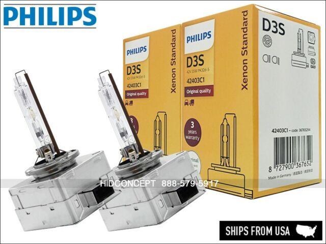 1x ampoule Xenon hid D3S PHILIPS 6000k ampoule phares 35W éclairage blanc