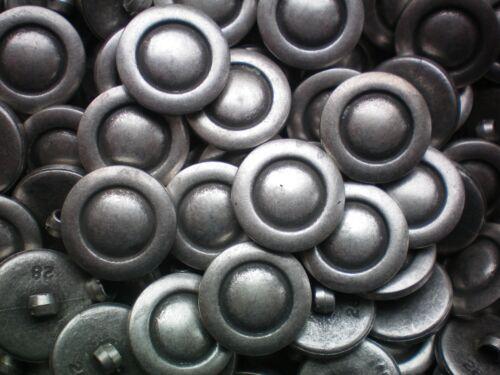 18 mm 28 l argent vieilli industriel rustique Plastique Tige Craft Veste Boutons K170