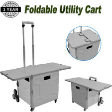 Upgrade Handcart Foldable Shopping Cart Withladder Wheels Amp Telescoping Handle 55l