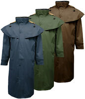 Mens Barclay Long Full Length Waterproof Riding Rain Cape Coat / Jacket