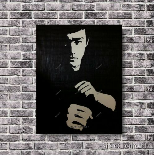 Bruce Lee Oil Painting Original Hand-Painted Art on Canvas NOT a Print 24x36