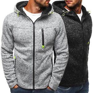 Men-039-s-Casual-Hoodie-Sweatshirt-Hooded-Coat-Jacket-Sweater-Pullover-Tops-Winter
