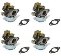 (4) Carburetors For Tecumseh 632107a Hssk40 Hssk50 Hs50 Lh195sa Small Engine