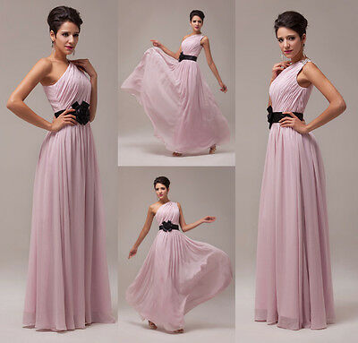Cocktail Long Bridesmaid Ball Gown Chiffon Party Evening Prom Dress AU Size 6-20