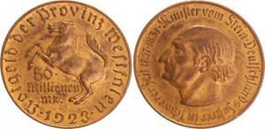 éNergique Westphalie 50 Millions De Marks 1923 Etroit Randstab!!! Vz, Kl. Rayures Plaqué Or-afficher Le Titre D'origine
