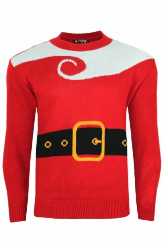 Mens Xmas Reindeer Printed Party Knitted Festive Crew Neck Christmas Jumper Top