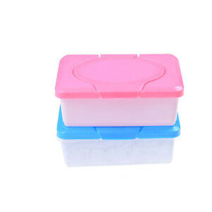2Pcs Wet Tissue Paper Case Baby Wipes Storage Box Holder Container Houseware *UK